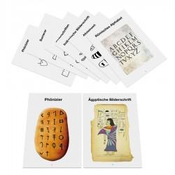 Bildkarten zur Entwicklung der Schrift
