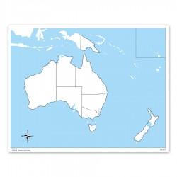 Australien: Arbeitskarte - unbeschriftet