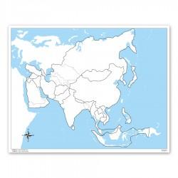 Azië, werkkaart
