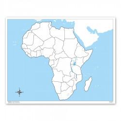 Afrika, Arbeitskarte