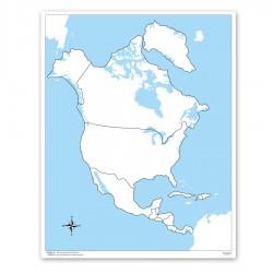 Nordamerika, Arbeitskarte