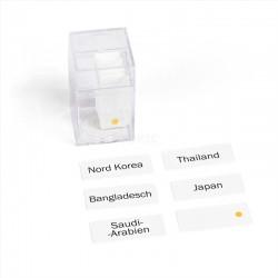 Azië, naamkaarten