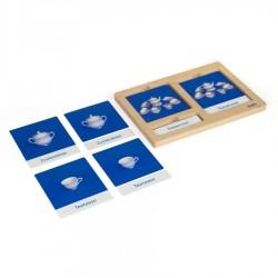 Kinder Tee-Service: Namenkarten mit Tablett, DE