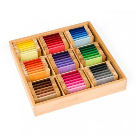 Farbtäfelchen: Schattierung mit 9 Farbe, Seide