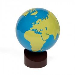 Globus Land und Wasser, lackiert