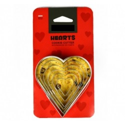 Cookie Cutter: Hearts 6 pcs