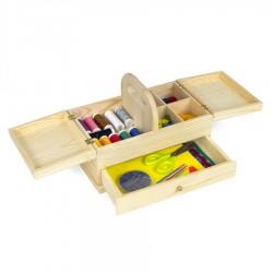 Nähen Werkzeugkasten Holz