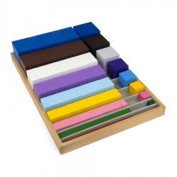 Kist met kubussen en kwadraten