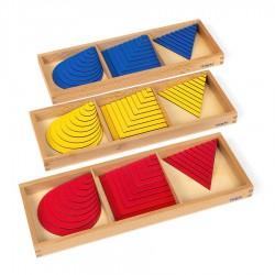Satz Kreise - Dreiecke und Quadrate