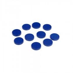 Houten fiches, blauw (100)
