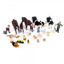 Satz Kunststoff-Figuren für Bauernhof