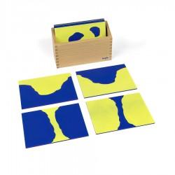 Karten Land - Wasser mit Kasten, Sandpapier